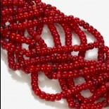 Zdjęcie - Koral bambusowy oponka czerwona 5x3mm