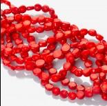Zdjęcie - Krążki z czerwonego korala 9x4mm