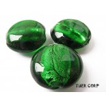 Zdjęcie - Szkło weneckie krążek zielony 15mm