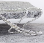 Zdjęcie - Hematyt kulki platerowane gładkie white silver 3mm