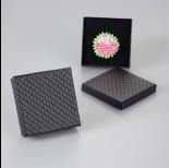 Zdjęcie - Czarne pudełko w kwadraty 9x9cm