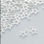 Zdjęcie - Srebrna zawieszka gwiazdka wycięta ag925 8x6mm