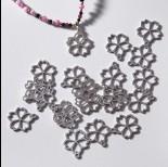 Zdjęcie - Zawieszka ze stali chirurgicznej kwiatek 16,6mm