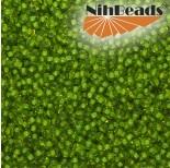Zdjęcie - Koraliki NihBeads 12/0 Inside-Color Lime/ Peridot Line