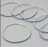 Zdjęcie - Bransoletka z kryształkami sapphire 18-21cm