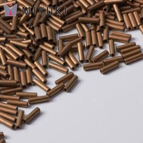 Zdjęcie - Koraliki Miyuki Bugles #2 6 mm Matted Metallic Dk Bronze