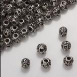 Zdjęcie - Koralik z ciemnego srebra z wyciętymi wzorkami 8mm