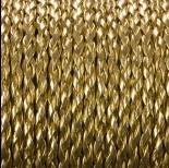 Zdjęcie - Rzemień pleciony złoty 3mm