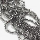 Zdjęcie - Kryształki kulki fasetowane half silver 3mm