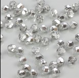 Zdjęcie - Fire Polish Silver 1/2 Coated Crystal (S00030) 6mm