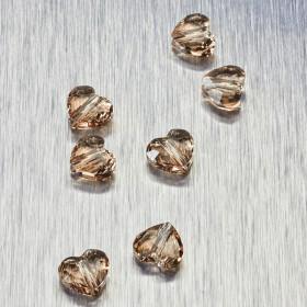 Zdjęcie - 5741 Swarovski love bead 8mm Light Silk