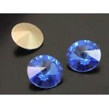 Zdjęcie - Swarovski rivoli stone sapphire 10mm