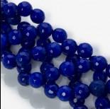 Zdjęcie - Jadeit marmurkowy kulka fasetowana niebieska 10mm