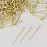 Zdjęcie - Szpilki z płaską główką w kolorze złotym  20mm