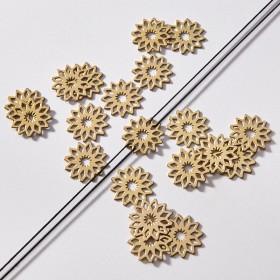 Zdjęcie - Zawieszka łącznik pozłacany ze stali chirurgicznej kwiatek rozeta 15,9mm
