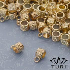 Zdjęcie - Krawatka ze wzorkiem w złotym kolorze 4.5mm