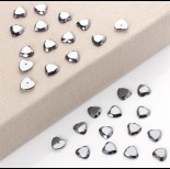 Zdjęcie - Hematyt kaboszon serce fasetowane z dziurką do sztyftów 12mm