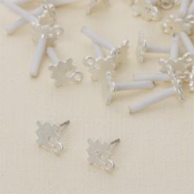 Zdjęcie - Kolczyki puzzle z oczkiem 13 mm