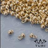 Zdjęcie - Krawatka kulka w złotym kolorze 1mm