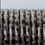 Zdjęcie - Rzemień płaski klejony srebrny bambus 6x3mm
