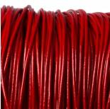 Zdjęcie - Rzemień naturalny lakierowany czerwony 4mm