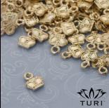 Zdjęcie - Zawieszka korona w złotym kolorze 9x7mm