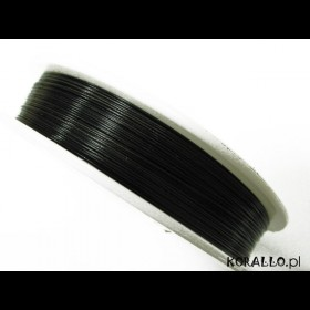 Zdjęcie - Linka stalowa powlekana 0.5mm czarna