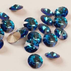 Zdjęcie - 1122 Swarovski rivoli stone 8mm bermuda blue