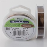Zdjęcie - Linka stalowa Beadalon siedmiostrunowa 31m, 0.38mm bronze