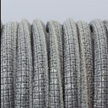 Zdjęcie - Rzemień szyty srebrne kafelki 6mm