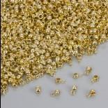 Zdjęcie - Drobna gładka krawatka w kolorze złotym 4mm