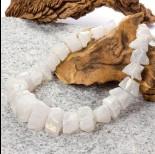 Zdjęcie - Kryształ górski bryłka stopniowana platerowana biała 49cm