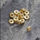 Zdjęcie - Srebrny dysk z wyciętą dziurką Ag925 pozłacany 8.5mm