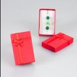 Zdjęcie - Ogniście czerwone pudełko z kokardką 5x8cm