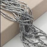 Zdjęcie - Hematyt platerowany kostka ścięta srebrna matowa 2x2mm
