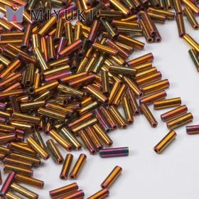 Zdjęcie - Koraliki Miyuki Bugles #2 6 mm Metallic Gold Iris