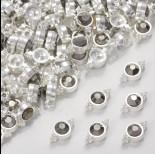 Zdjęcie - Przekładka z kryształkiem koloru srebrnego hematite  10mm