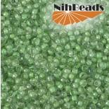 Zdjęcie - Koraliki NihBeads 12/0 Inside-Color Lustered Crystal/ Celery Line