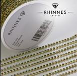 Zdjęcie - Taśma z kryształkami kolor złoty emerald 2mm
