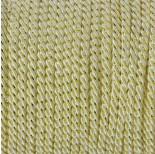 Zdjęcie - Sznurek kremowy skręcany ze złotą nicią 3mm