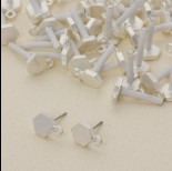 Zdjęcie - Kolczyki sześciokąty z oczkiem 12 mm