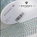 Zdjęcie - Taśma z kryształkami kolor srebrny aquamarine 3mm