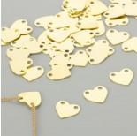 Zdjęcie - Srebrna blaszka celebrytka serce, próba 925, pozłacana  11x12mm