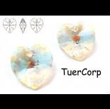 Zdjęcie - 6228 XILION heart pendant, SWAROVSKI, blue AB 18mm