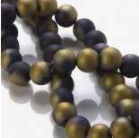 Zdjęcie - Blackstone matowy kulki platerowane złote 12mm