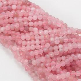 Zdjęcie - Kryształ górski różowy kulka fasetowana 5mm