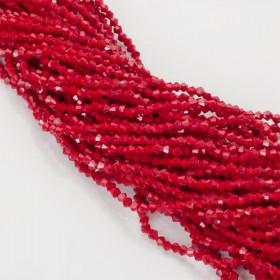 Zdjęcie - Kryształki bicone fasetowane 3mm dark red