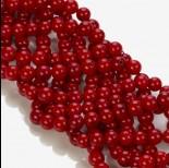 Zdjęcie - Koral bambusowy kulka czerwona 6-7mm