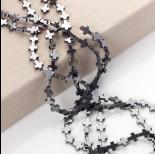 Zdjęcie - Hematyt krzyż błyszczący szary 10x8mm