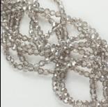 Zdjęcie - Kryształki kulki fasetowane silver shadow 4mm
